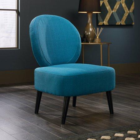 Sauder International Lux Maya Accent Chair  Pacific Blue Finish