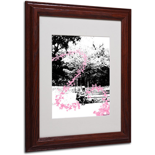 "Trademark Fine Art ""Pink Butterflies"" Matted Framed Art by Miguel Paredes"