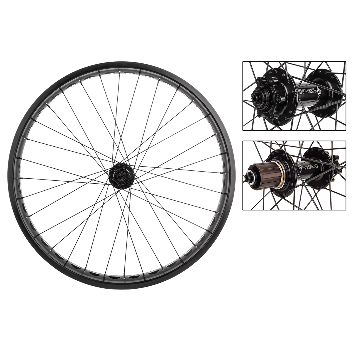Origin8 AT-Pro801 Cruiser Wheelset 26x4 Black Shimano 11-Speed