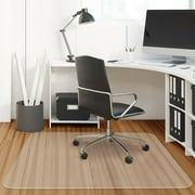 "47"" x 47"" PVC Chair Floor Mat Home Office Protector For Hard Wood Floors"