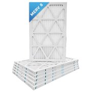 16x25x1 MERV 8 Pleated AC Furnace Air Filters.    6 Pack / $5.16 each