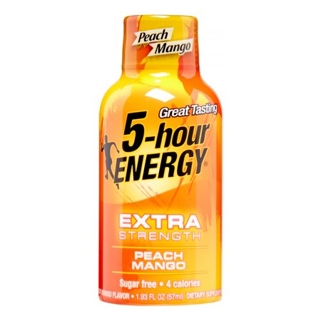 5-Hour Energy Extra Strength Energy Drink Peach Mango, 1.93 Fl Oz, 12 Count