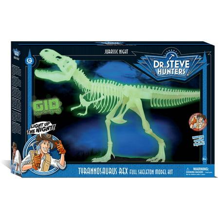 Geoworld Dr. Steve Hunters Jurassic Night Glow in the Dark T. Rex Skeleton