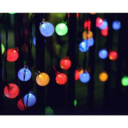 30 led bubble ball solar ball string color - Guirlandes lumineuses exterieures solaires ...