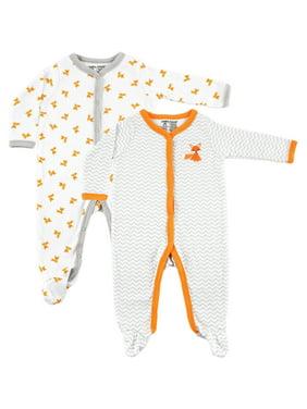 Luvable Friends Baby Boy or Girl Unisex Sleep N Play Pajamas, 2-Pack