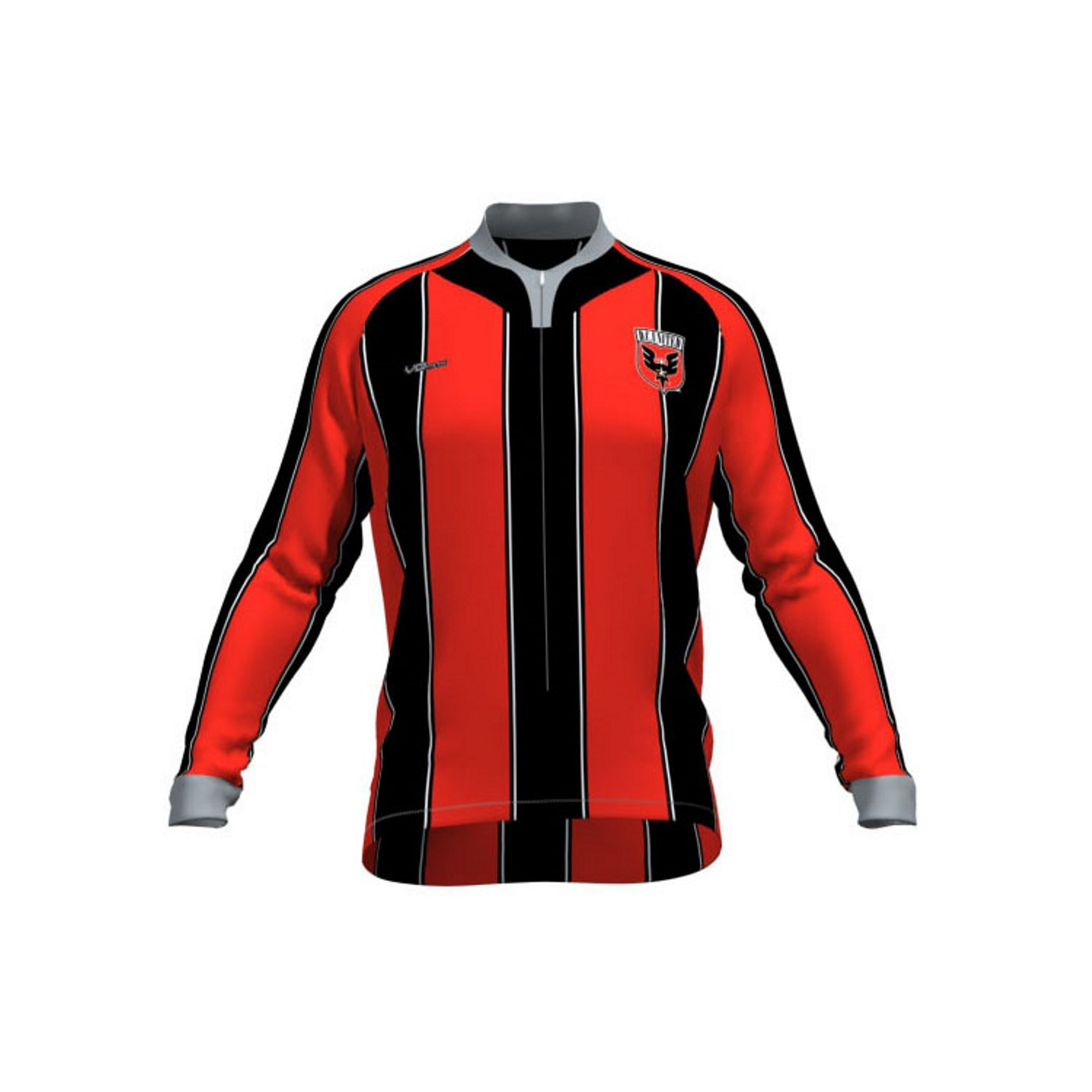 VOmax MLS Mens Long Sleeve Original Striped D.C. United Cycling Jersey (S) NEW