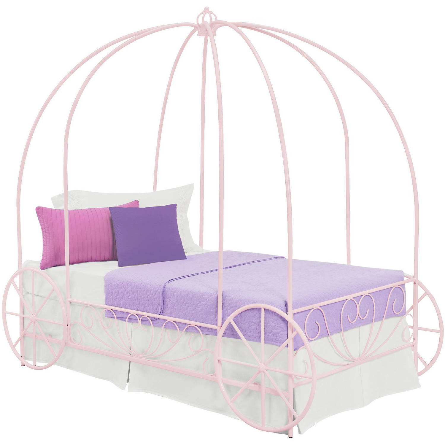 Dorel DHP Metal Twin Carriage Bed, Multiple Colors   Walmart.com