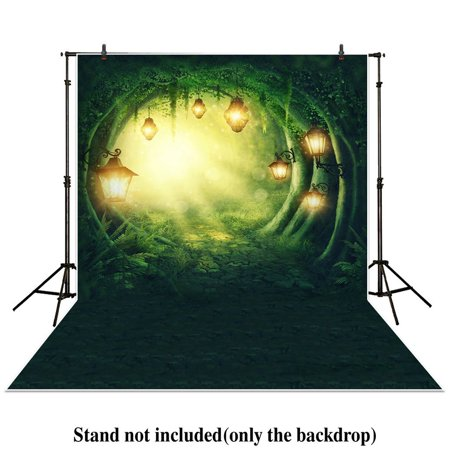MOHome Polyster 5x7ft photography backdrops secret garden enchanted forest spring or summer woods stone path Birthday party banner photo studio booth background newborn baby shower photocall - Enchanted Forest Party