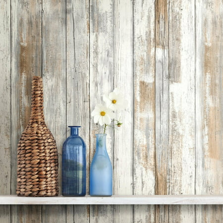 RoomMates Distressed Wood Peel and Stick Wall Décor Wallpaper - Suicide Wallpaper