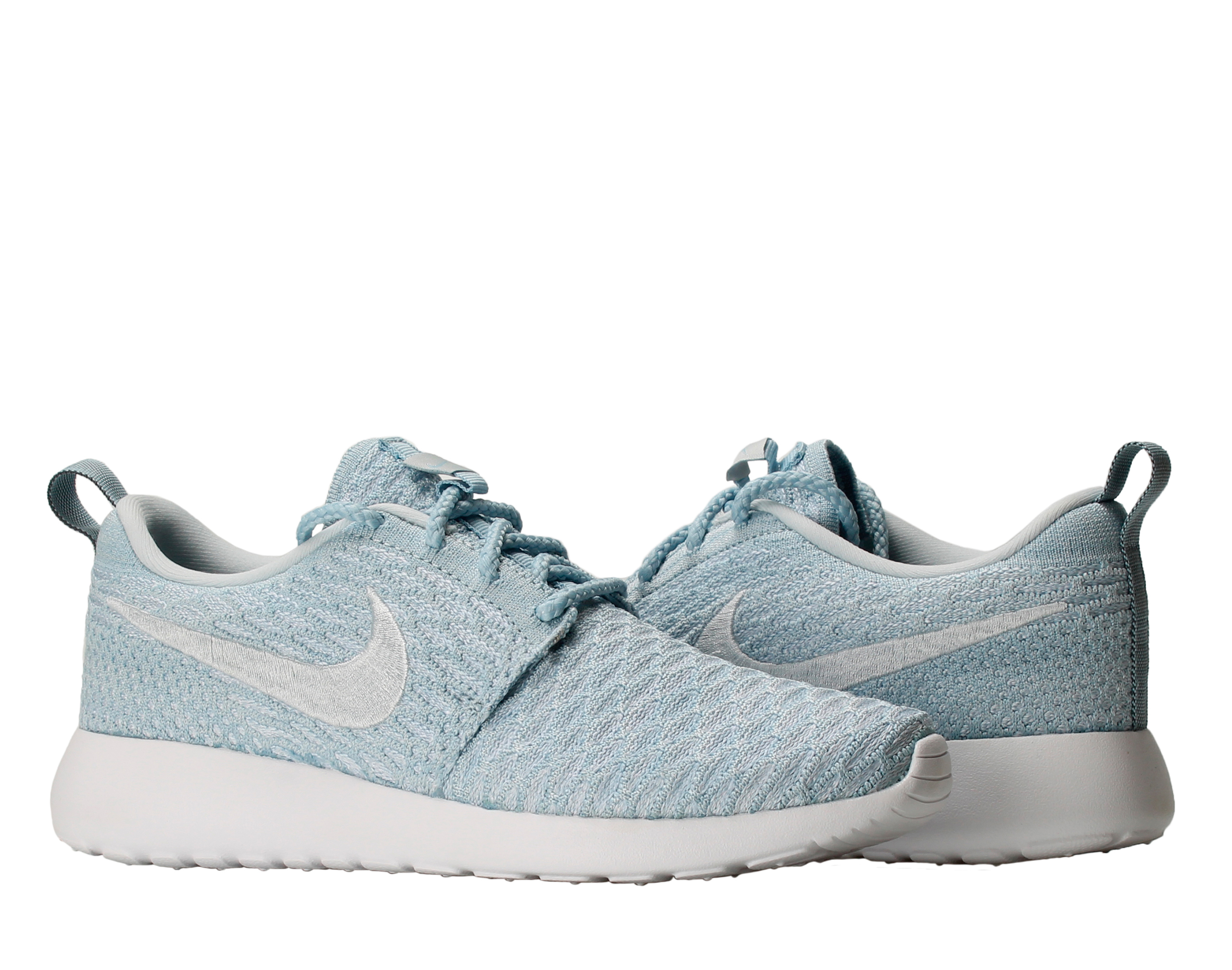 Nike Roshe One Flyknit Light Shoes Armory Blue/White Women's Running Shoes Light 704927-401 Size 5.5 a9efe8