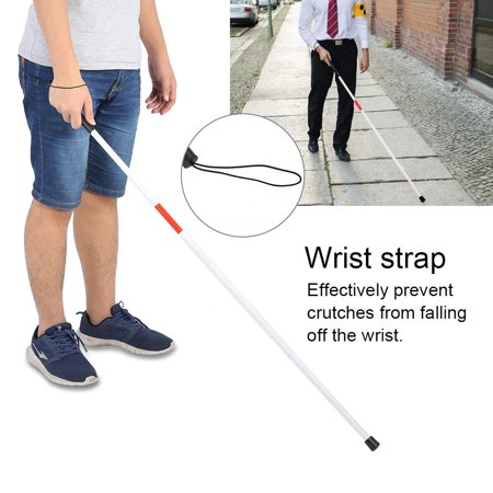 White Canes Blind - Lv. life Blind People Guide Walking Stick Portable Anti-Shock Foldable Reflective Cane Crutch