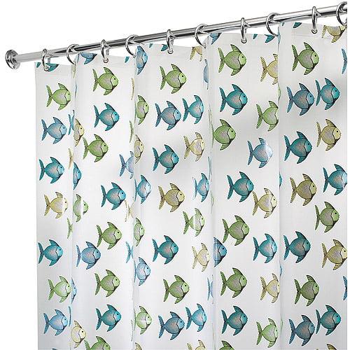 InterDesign Fishy EVA Shower Curtain