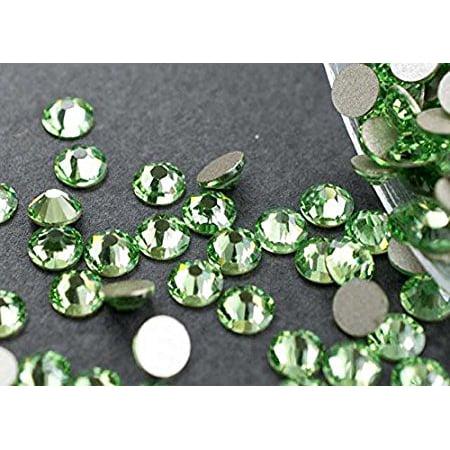 6544a58533 Flat back Crystal 2058 Swarovski Rhinestone No Hotfix Round 214 Peridot  SS16 4mm 72 pcs (Light Green) - Walmart.com