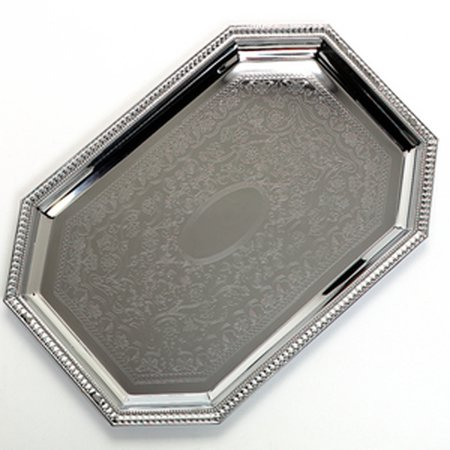 Carlisle Celebration Octagonal Catering Tray Silver  0 81  Height X 13 75  Width X 20  Length   1 Each