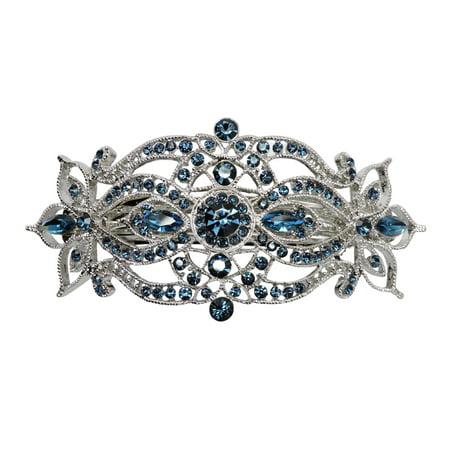 Faship Gorgeous Rhinestone Crystal Big Floral Hair - Crystal Barrettes