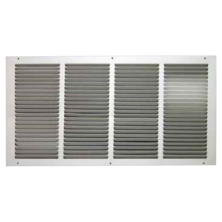 16x12 Soft White Return Air Grille (Stamped from Cold Rol...