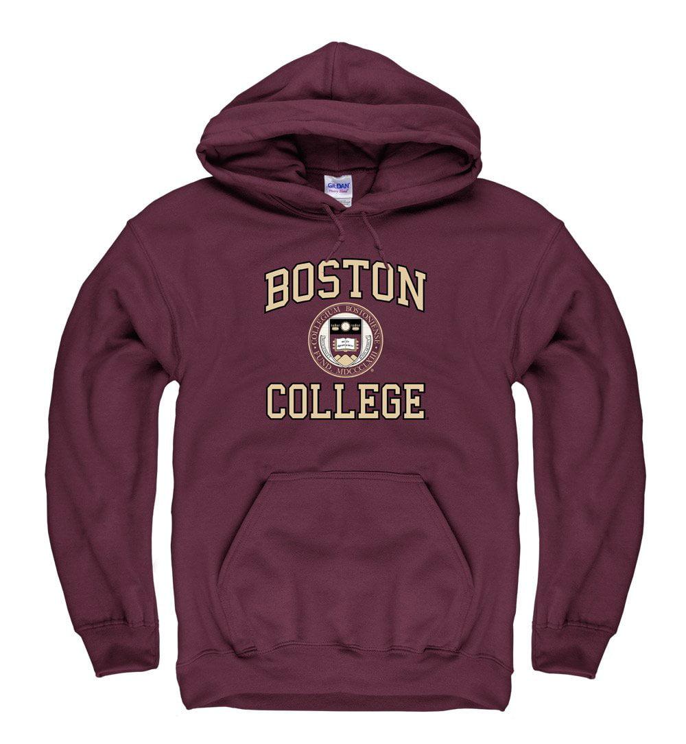 Boston College Arch & Seal Hoodie Sweatshirt-Maroon