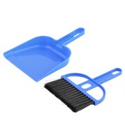 Computer Car Plastic Keyboard Window Rubbish Cleaning Brush Dustpan Set Blue