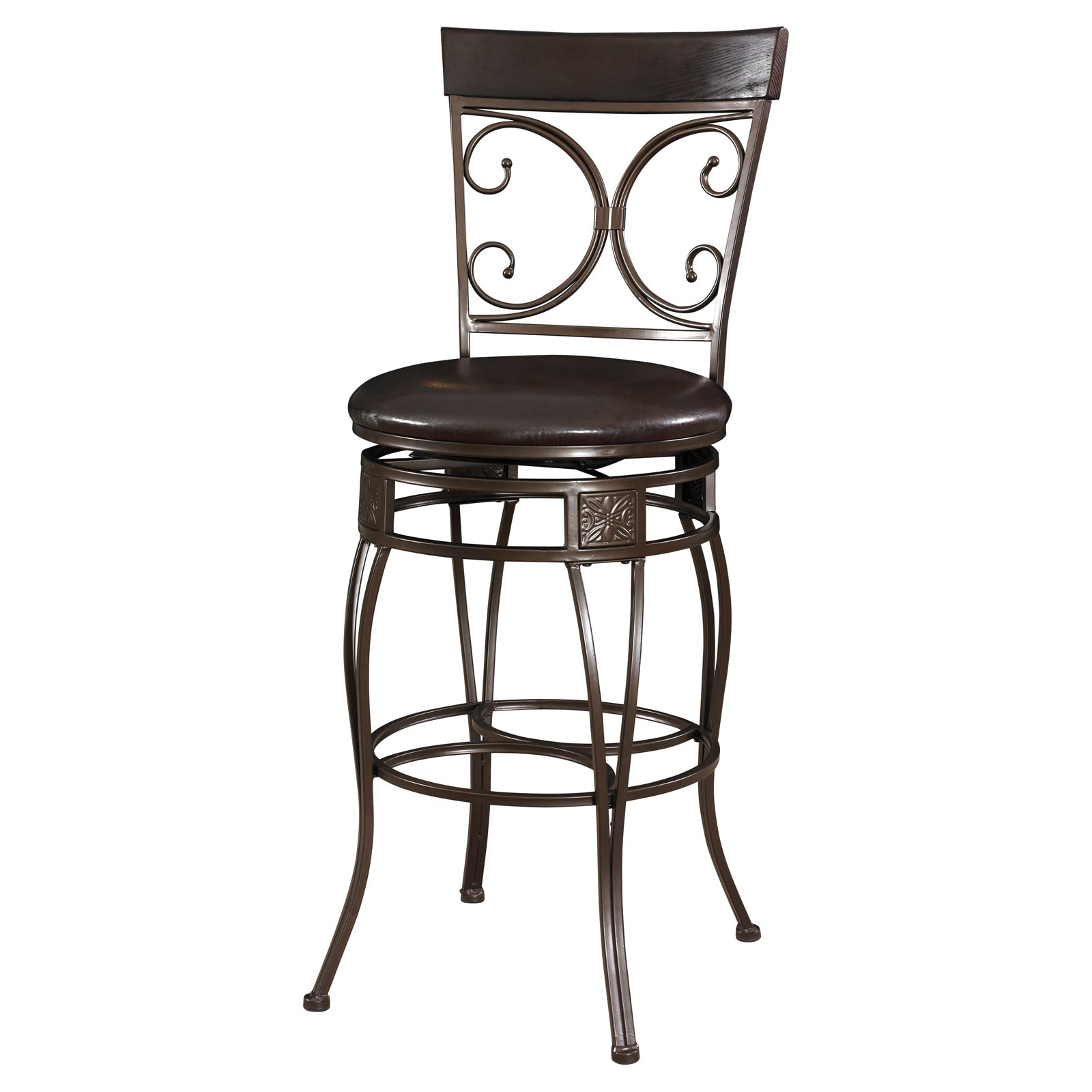 Powell Big & Tall Back to Back Scroll Bar Stool by Powell
