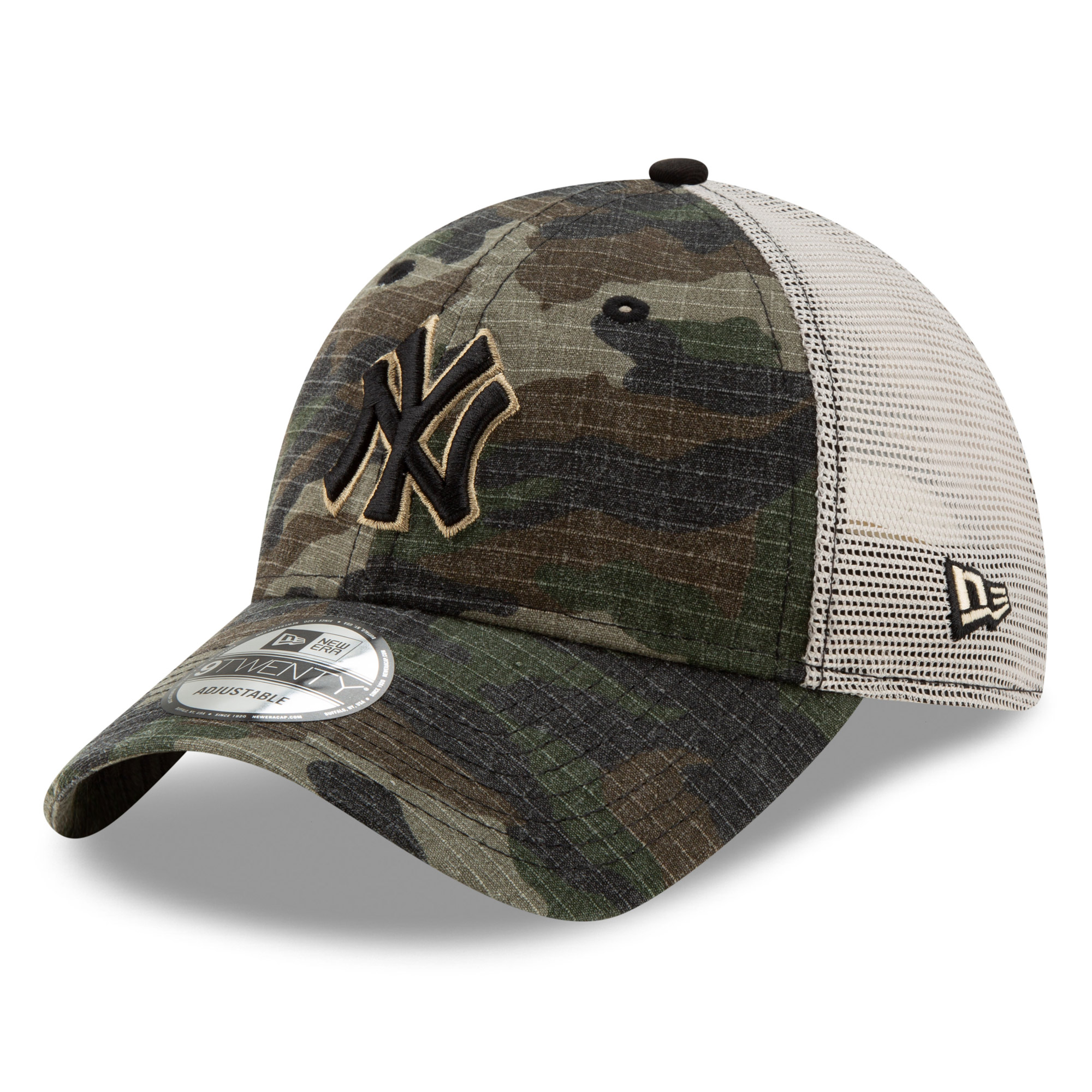 New York Yankees New Era Tonal Trucker 9TWENTY Adjustable Snapback Hat - Camo - OSFA
