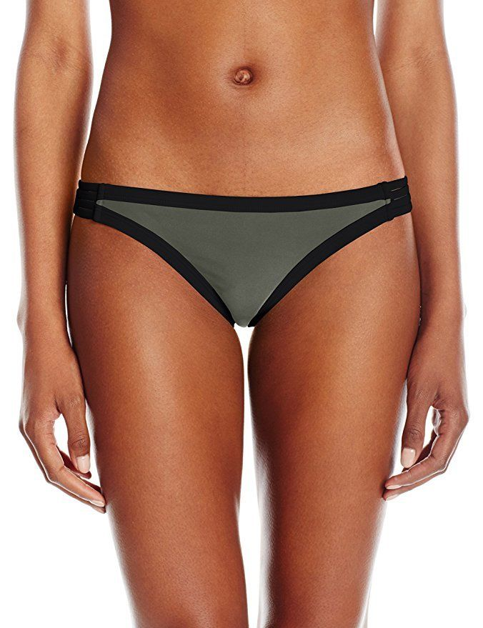 Body Glove Junior's Seaway Flirty Surf Rider Bikini Bottom, Agave, L