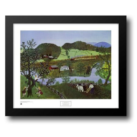 Hoosick River, Summer, 1952 33x28 Framed Art Print by Robertson Moses (Grandma Moses), Anna Mary