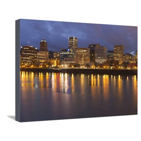 City Lights Reflected in the Willamette River, Portland, Oregon, USA Stretched Canvas Print Wall Art By William Sutton](Halloween Stores In Portland)
