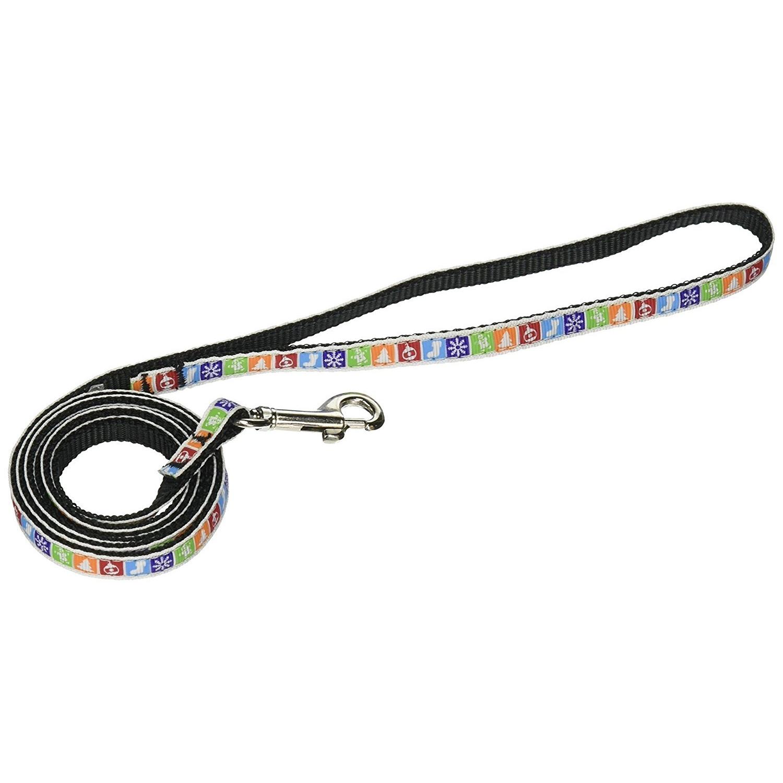 Dog Dog Leash, Classic Christmas 3/8in Wide 4 Feet Rope Nylon Ribbon Collar