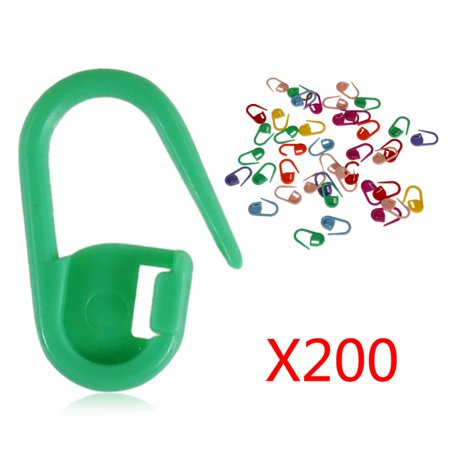 Holiday Clearance 200pcs Knitting Crochet Locking Stitch Needle Clip Markers Holder