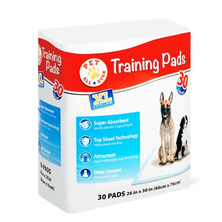Pet All Star XL Training Pads, 26 in x 30 in, 30
