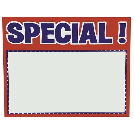 5.5' x 7' SPECIAL Sign Card (100)