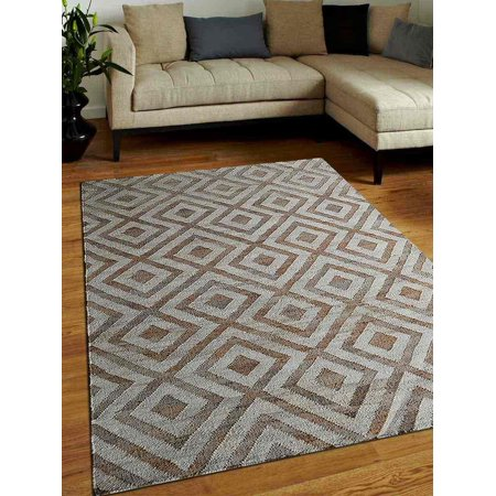 Rugsotic Carpets USJ00028H3101A1 3 x 5 ft. Hand Woven Kilim Jute Oriental Area Rug - White Beige - A1 Oriental