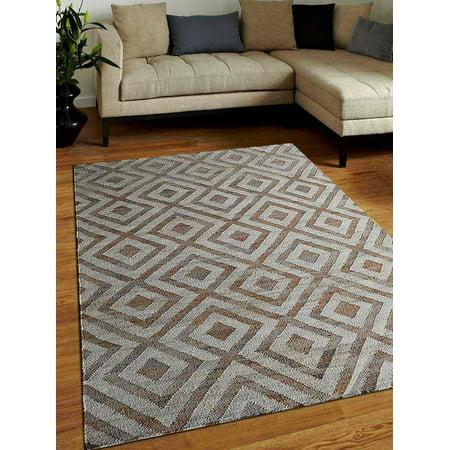 Rugsotic Carpets USJ00028H3101A1 3 x 5 ft. Hand Woven Kilim Jute Oriental Area Rug - White Beige