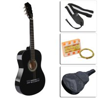 GPCT Acoustic Guitar Beginner Kit with Case, Tuner, Pick, Extra Strings, and Strap