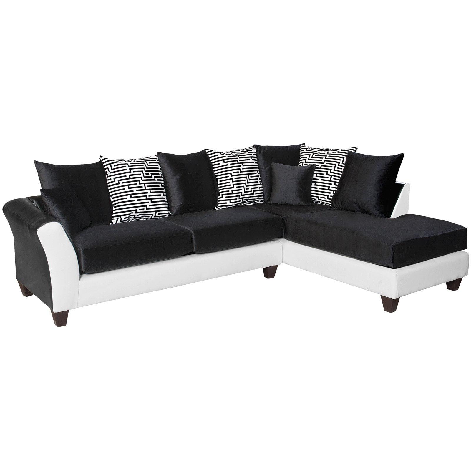 Flash Furniture Riverstone Implosion Velvet Sectional Sofa