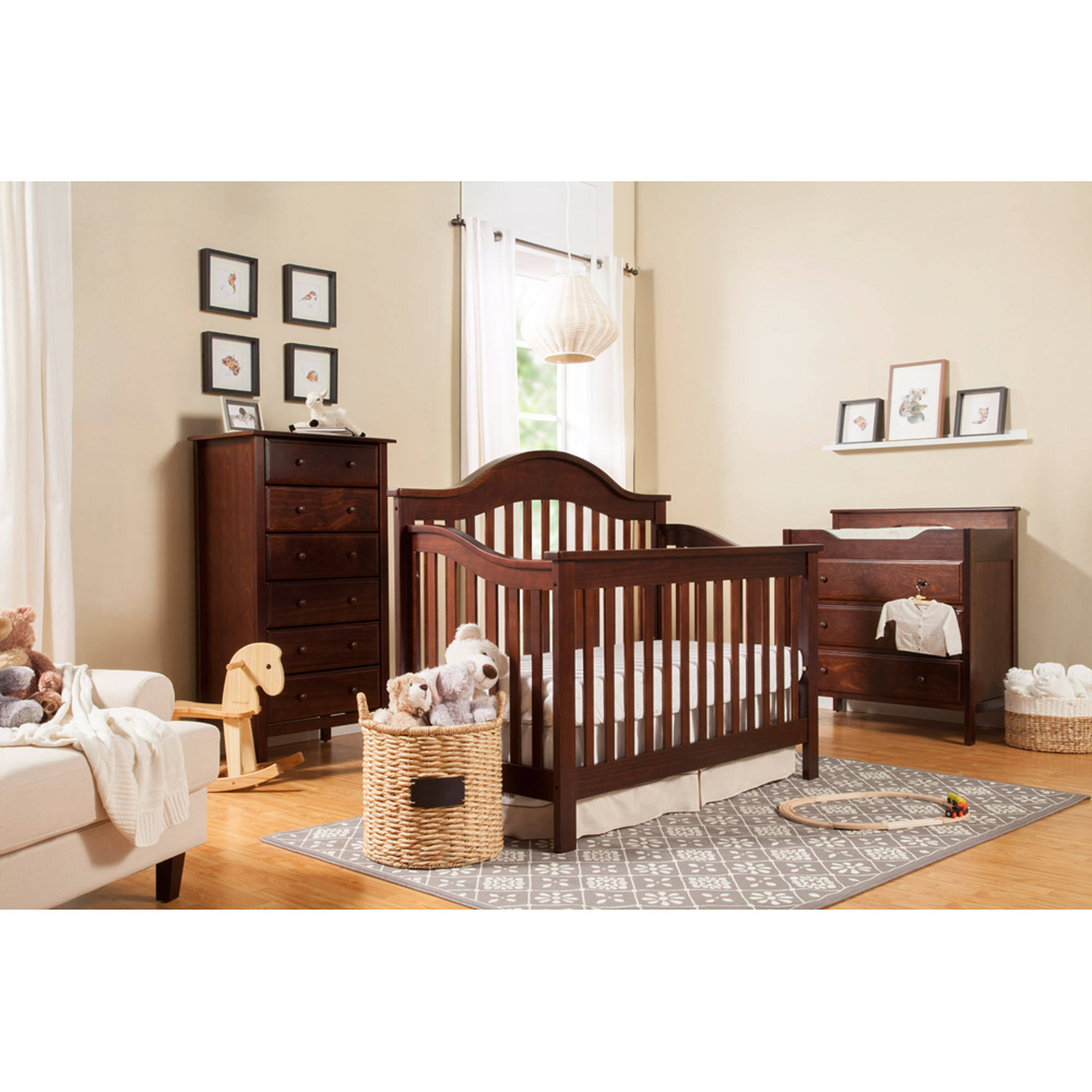 DaVinci Jayden 4-in-1 Convertible Crib with Toddler Bed Conversion Kit, (Choose Your Finish)