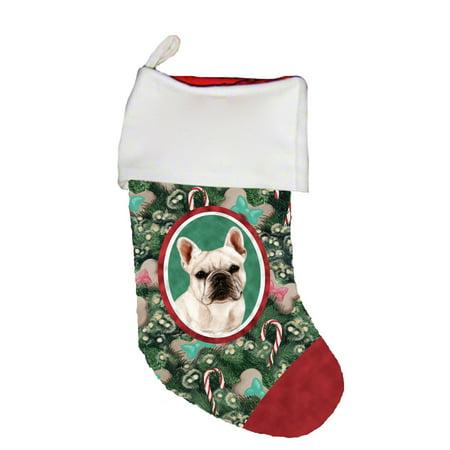 Bulldog Christmas Stocking - French Bulldog Cream - Best of Breed Dog Breed Christmas Stocking