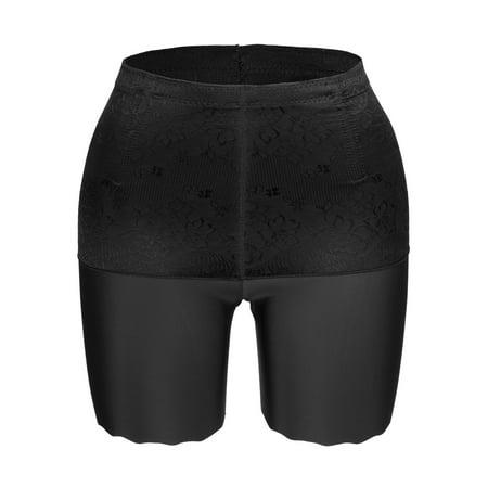 SAYFUT Women's Seamless Panties Body Shaper High Waist Control Tummy Slip Boyshorts Underwear Regular Size - Regular Body
