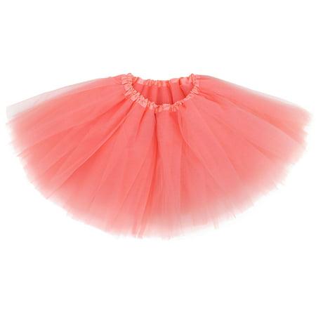 Girl Classic Elastic Pettiskirt Layer Tulle Tutu Skirt - Red Dawn Costume