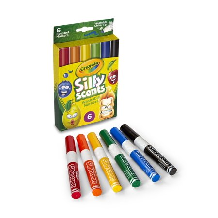 Crayola Silly Scents 6Ct Scented Washable Scented Markers - image 1 de 5