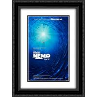 Finding Nemo 20x24 Double Matted Black Ornate Framed Movie Poster Art Print