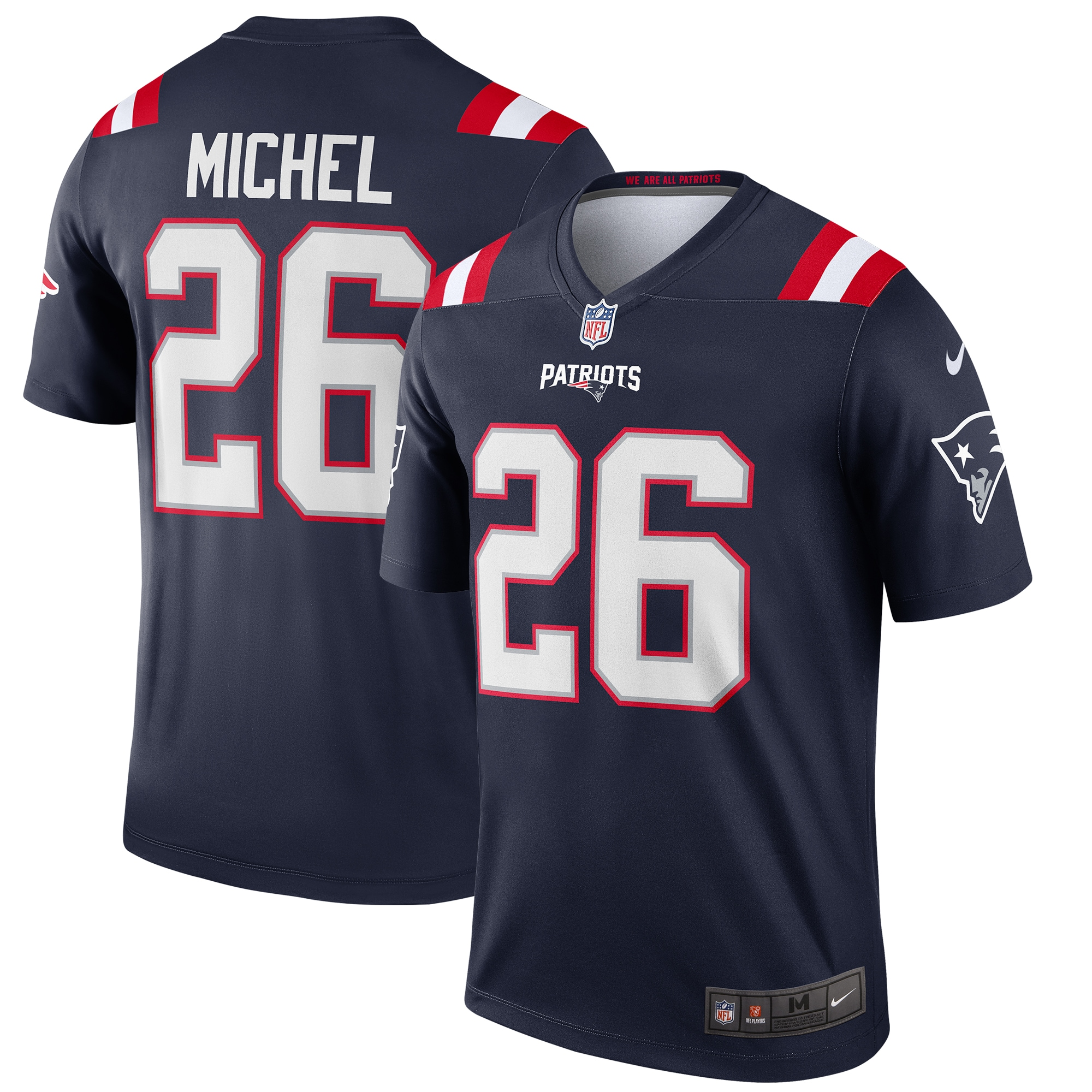 Sony Michel New England Patriots Nike Legend Jersey - Navy - Walmart.com