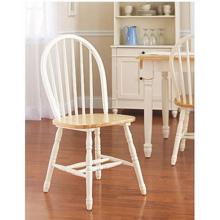 Better Homes And Gardens Autumn Lane Windsor Chairs Set Of 2 White And Natural