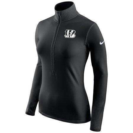 - Cincinnati Bengals Nike Women's Champ Drive Pro Hyperwarm Half-Zip Jacket - Black