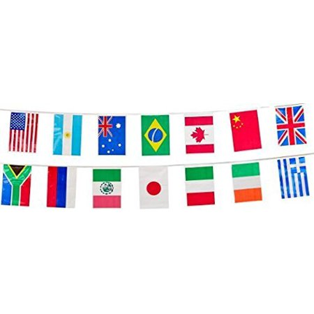 02ee266ca08f International Flag Pennant Banner by Beistle - for All Weather 20 flags w  String - Walmart.com