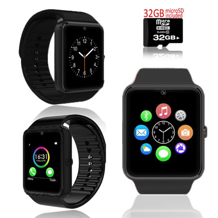 Indigi® UNLOCKED! GSM 2-in-1 Smart Watch Phone Camera SIM-Card Slot ~ Free 32GB microSD - image 5 of 5