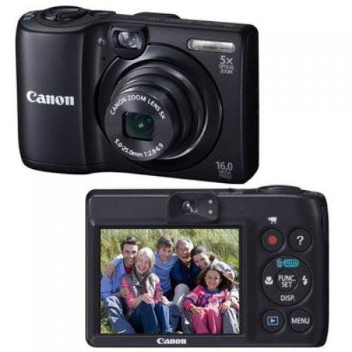 "Canon PowerShot A1300 Black 16MP Digital Camera w/ 5x Optical Zoom Lens, 2.7"" LCD Display, HD Video, Digital Image Stabilization"