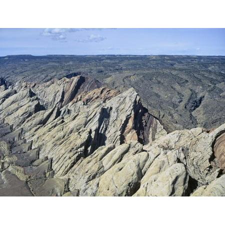 Aerial View of the San Rafael Swell, Navaho Sandstone, Emery County, Utah, USA Print Wall Art By Jim (Home Goods San Rafael)