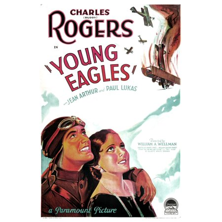 Young Eagles Us Poster Art From Left Charles Buddy Rogers Jean Arthur 1930 Movie Poster Masterprint