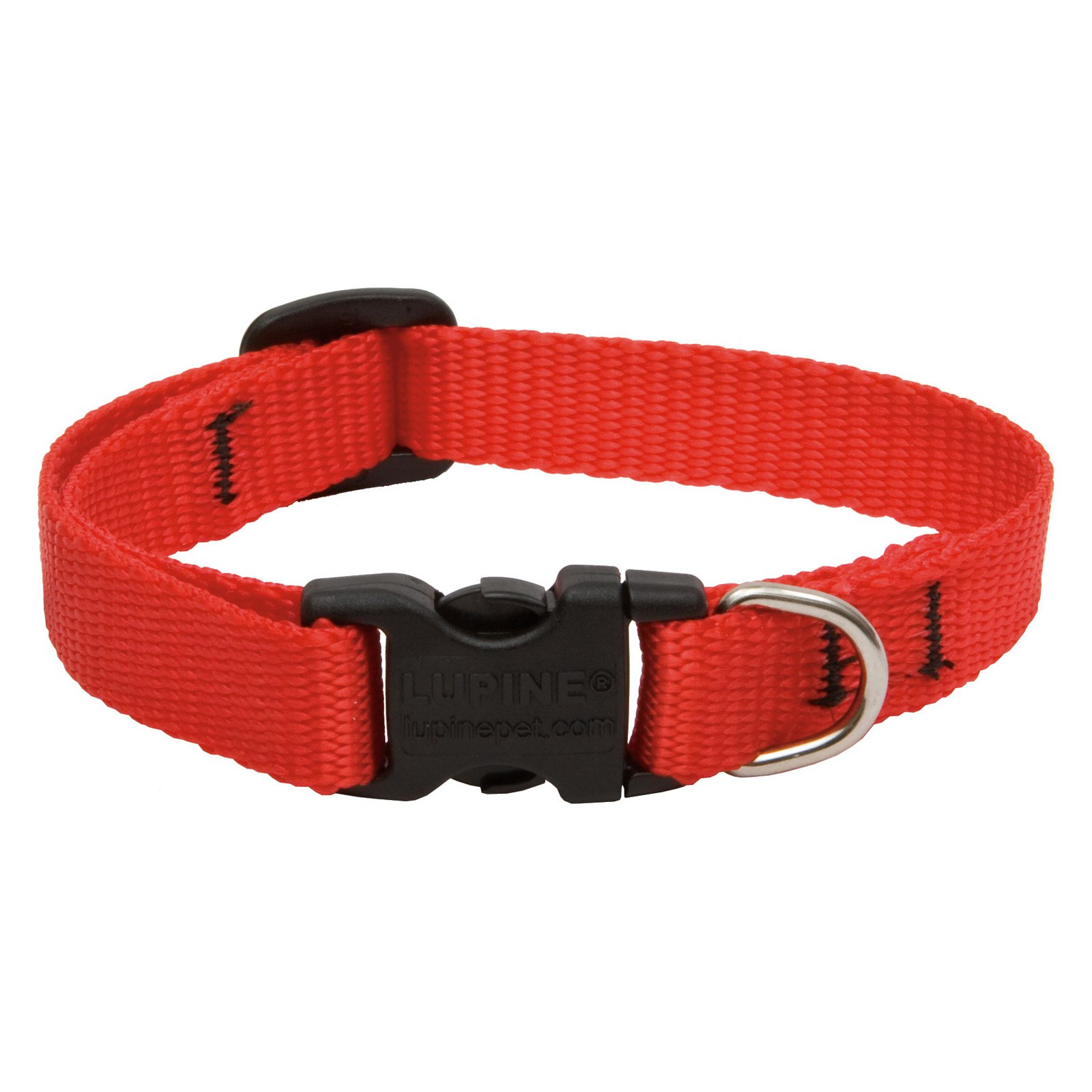 "Lupine Collars and Leads 22534 Red 1/2"" x 8-12"" Collar"